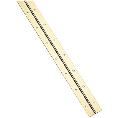 National Steel 1-1/2 In. x 72 In. Bright Brass Continuous Hinge