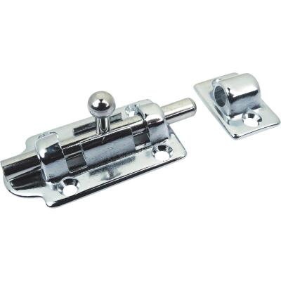 Seachoice 2-1/2 In. Chrome-Plated Brass Barrel Bolt